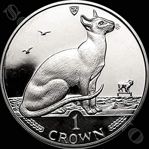 1992 SIAMESE CAT - Uncirculated Cupro Nickel 1 Crown Coin - Isle of Man
