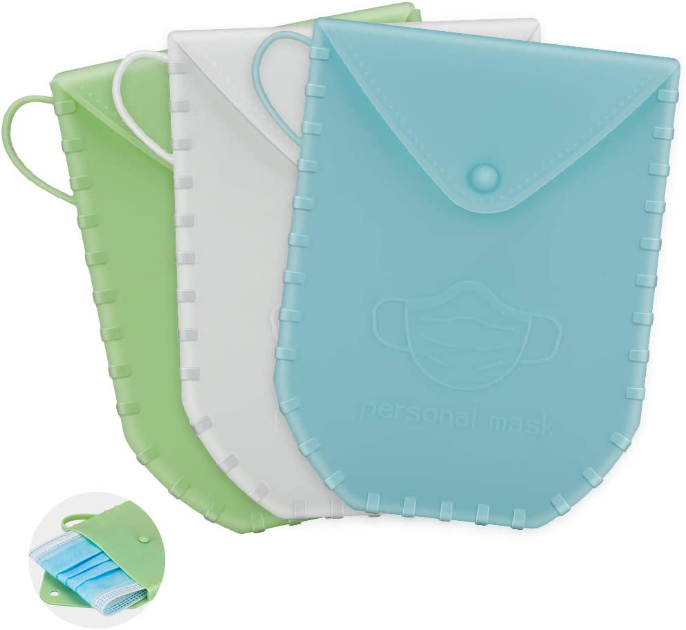 3 piezas almacenamiento de mascarillas caja de almacenamiento de mascarillas antipolvo,Estuche para almacenar mascarillas.Protege tus mascarillas de la suciedad y el polvo.