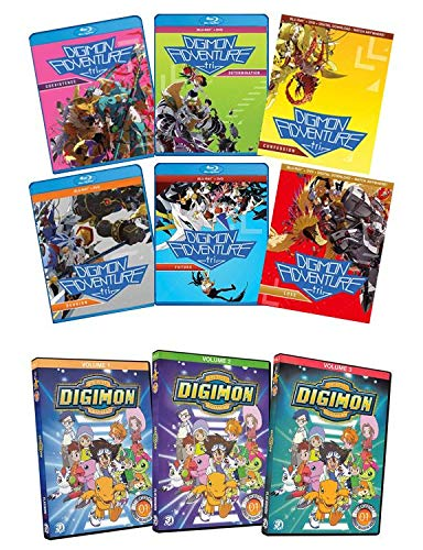 Digimon Adventure tri.: The Complete 6-Film Collection - Coexistence / Determination / Confession / Reunion / Future / Loss [Blu-ray & DVD] + Digmion: Digital Monsters: The Complete First Season (Volu
