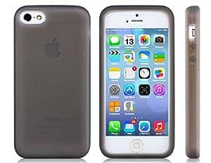 E-LBC® Color sólido Funda de silicona para iPhone 5C (Negro)