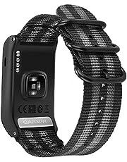 Voor Garmin Vivoactive HR Strap, Fintie Zachte Nylon Sport Straps Verstelbare Vervangende Horlogebanden met Metalen Gesp Polsband voor Garmin Vivoactive HR GPS Smart Watch