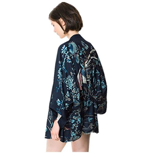 Japanese Style Women kimono Casual Women Blouse Coat (L) by Ihomeu (Image #3)