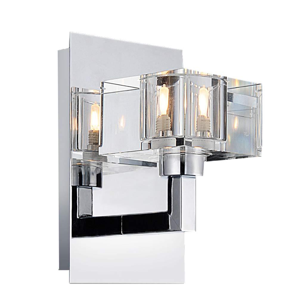 Wandleuchte aus K9 Kristall Mini Industrie Moderne Wandlampe Retro Industrial Loft Leuchten Glasschirm Deckenlampe für Wohnzimmer Schlafzimmer Küche Esszimmer Flur Treppenhaus Bar Hotel usw