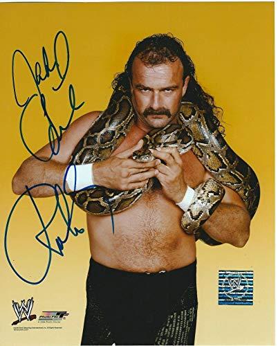 Jake The Snake Roberts Signed WWE Photofile 8x10 Photo - Autographed Wrestling Photos