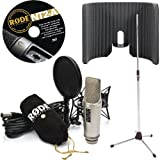 xlr condenser microphone rode - Rode NT2-A Microphone with Primacoustic VoxGuard and Tripod Mic Stand