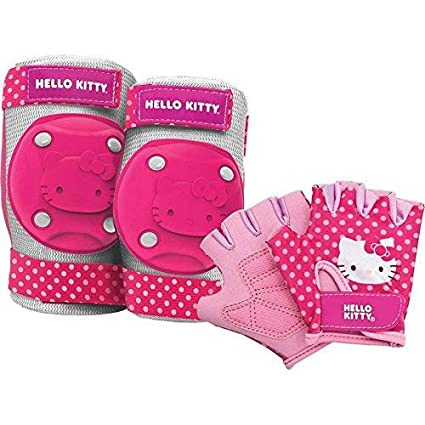 78f8f0a88 Amazon.com : Bell Sports Hello Kitty Protective Gear Pad Set, Pink : Sports  & Outdoors