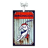 Team Sports America 3OT3809MC Denver Broncos Metal Corrugate Ornament