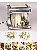 Premium Electric Pasta Maker Machine Set - Electric Pasta Roller & Cutter - Food Grade Stainless Steel - Adjustable Dough Thickness - Perfect For Italian Spaghetti, Fettucine & Tagliolini