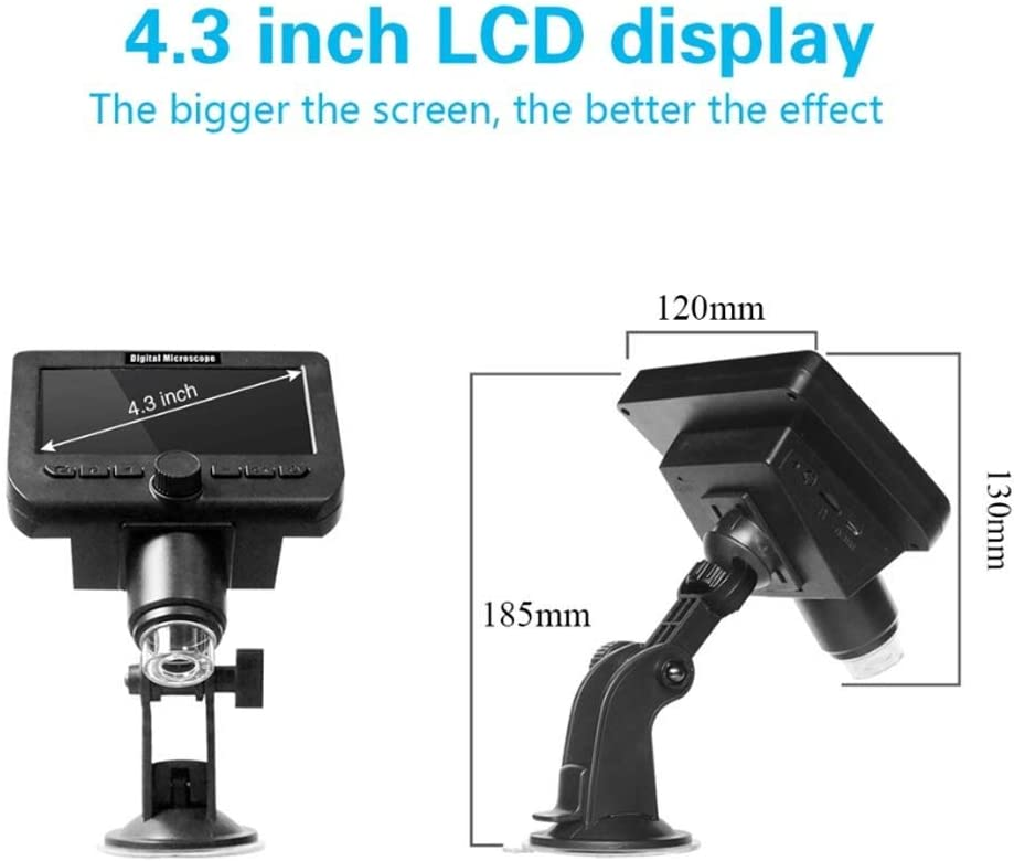 WYKDL 40X-1000X All-Metal Optical Glass Lenses Cordless LED Student Biological Compound Microscope