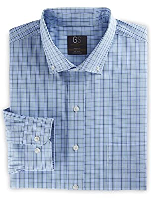 Gold Series DXL Big and Tall Medium Plaid Dress Shirt