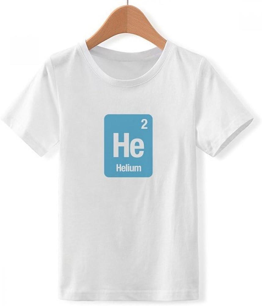 DIYthinker Él Helio química Ciencia Elemento de Cuello Redondo de la Camiseta para Chico Pequeña: Amazon.es: Ropa y accesorios