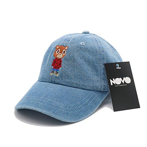 Kanye Graduation Bear Dad Hat In Twilled Cotton (Mid Wash Denim) (West Bear Kanye Shirt)