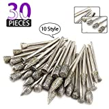 30Pcs Diamond Grinding Burr Drill Bit Mix Set