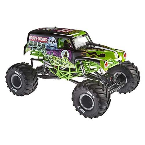 Axial SMT10 Grave Digger Monster Jam 4WD RC Monster Truck Off-Road 4x4 Electric Ready to Run with 2.4GHz Radio and Waterproof ESC, 1/10 Scale RTR