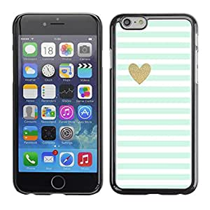 Impact Case Cover with Art Pattern Designs FOR Apple Iphone 6 Plus 5.5 Blue White Baby Stripes Pattern Heart Betty shop
