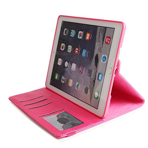 BoriYuan iPad 4&3&2 360 Degree Rotating Stand PU Leather Case Protective Flip Folio Detachable Soft Rubber Cover For Apple iPad 4/ iPad 3/ iPad 2 with Card Slot+Screen Protector+Stylus (Rose Red) Photo #10