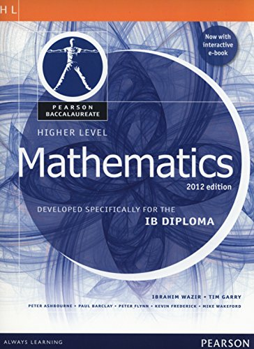 Mathematics, Higher Level, for the IB Diploma (Student Book with eText Access Code) (Pearson Baccalaureate)