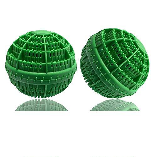 BERON Set of 2 Eco-Friendly Laundry Balls for 1500 Washings (Green) (Eco Egg Washing Machine)
