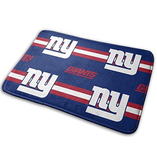 Sorcerer Custom Colorful Doormat American Football Team New York Giants Indoor Super Non Slip Absorbent Floor Mat Suitable Bathroom Entrance Toilet Bedroom 15.7 X 23.6 Inches