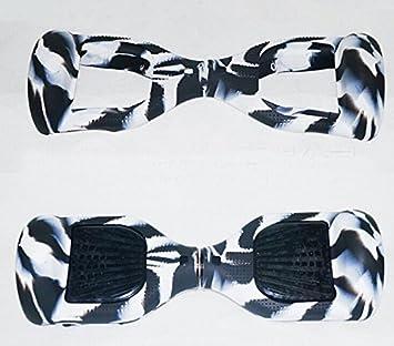 Zebra silicona protectora arañazos carcasa Funda Piel para 6,5 pulgada Smart Auto Equilibrio Scooter eléctrico Hover Board