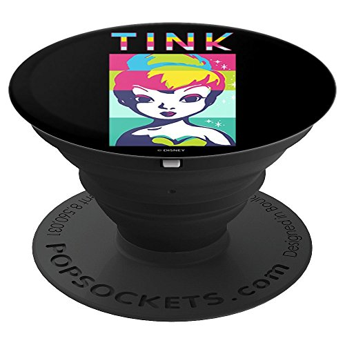 (Disney Peter Pan Tinkerbell Color Block Of Tinks Face - PopSockets Grip and Stand for Phones and Tablets)