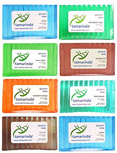 tamarinda Glycerin Soap - 8 Bar Mens Collection