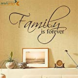 family is forever quotes wall decals living room home decorative stickers letters adesivos