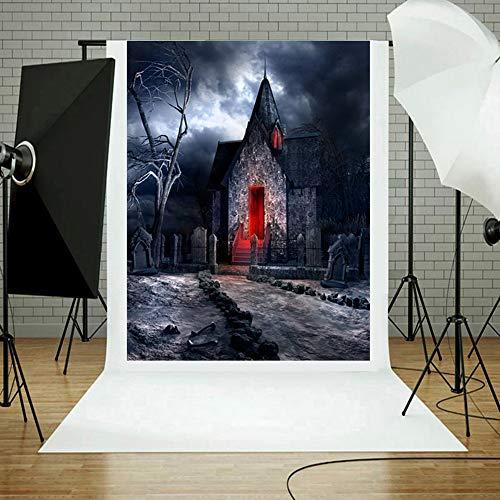 3x5ft Halloween Backdrops Theme Wall Photography - Vinyl Brown Vintage Studio Lantern Pumpkin Photo Backgrounds Prop by Vertily (I)