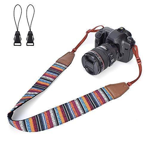 LIFEMATE Camera Shoulder Strap Belt for All DSLR Camera Multi Color Neck Belt for Canon, Nikon, Sony,Pentax, Fujifilm, and Digital Camera (National 024)