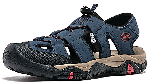 Atika Mens Sandali Sportivi Trail Outdoor Water Shoes 3layer Puntatore M106 / M107 At-m106-nvy