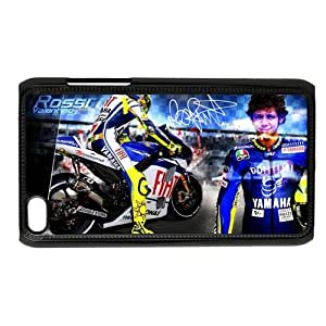 Personalized Custom Most Successful Racing Driver Valentino Rossi Ideas Printed for IPod Touch 4/4G/4th Phone Case Cover--WSM-051401-047