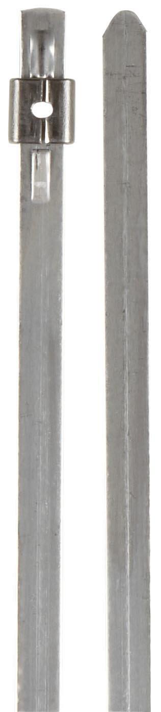 BAND-IT AS2219 Mini Tie-Lok 304 Stainless Steel Cable Tie, 0.177'' Width, 7'' Length, 1'' Maximum Diameter, 100 per Bag