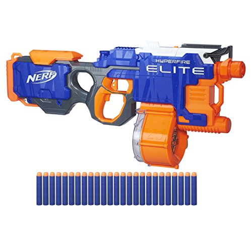Black Semi Automatic Gun - Nerf N-Strike Hyperfire Toy (Amazon Exclusive)