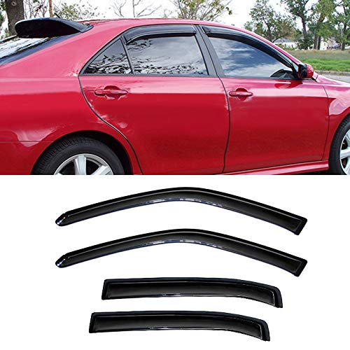 4pcs Vent Shade Window Visors,JM for 06-13 Chevy Impala All Models & 14-16 Chevy Impala Limited Model Sun Rain Wind Guard Side Deflectors