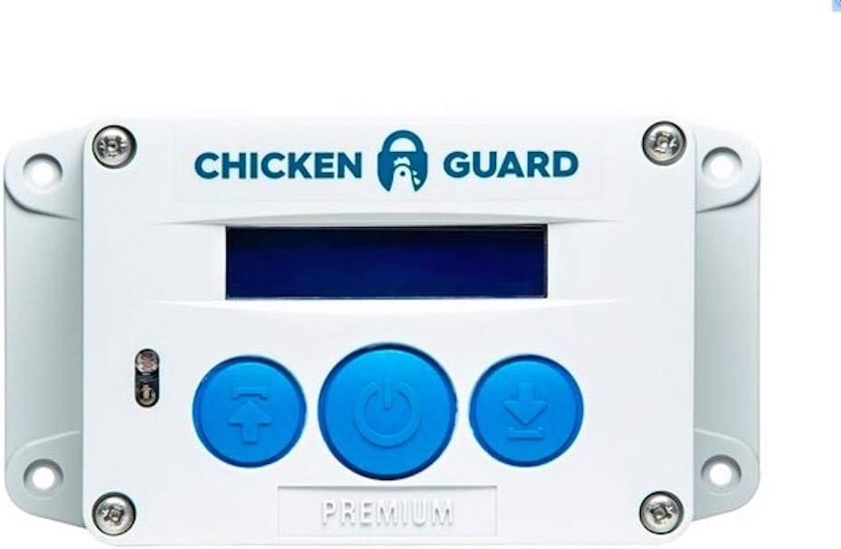 ChickenGuard Automatic Chicken Coop Door Openers, 3 Models, Timer/Light Sensor, Lift up to 4kg Pop Hole Door, Batteries (Premium)