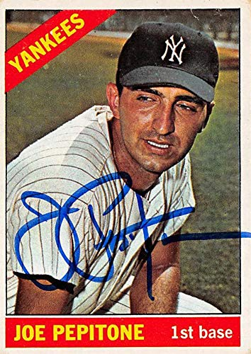 Joe Pepitone Autographed Baseball Card New York Yankees 1966 Topps