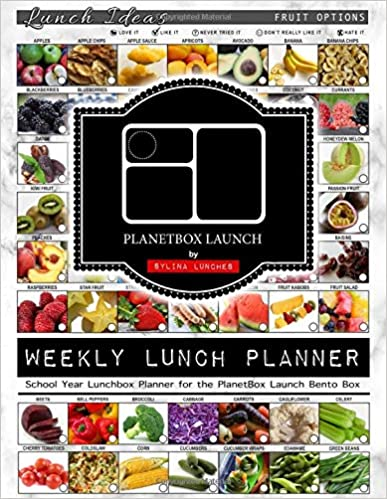 School Year Lunchbox Planner for the PlanetBox Launch Bento Box Weekly Lunch Planner 40 Weeks of Planning Pages /& Lunch Ideas