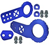 xv crosstrek tow hook - ICBEAMER Racing X-Style Pattern Anodized CNC Aluminum Tow Hook Kit Front and Rear Tow Hook with Screw [Color Blue]