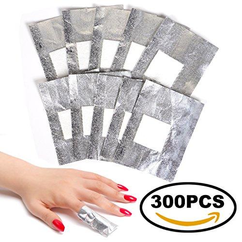 ECBASKET Nail Polish Remover Gel Remover Wraps 300Pcs Nail F