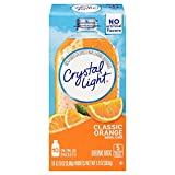Crystal Light Drink Mix, Classic Orange With Vitamin C & Calcium, On The Go Packets, 10 Count (Pack of 6 Boxes)