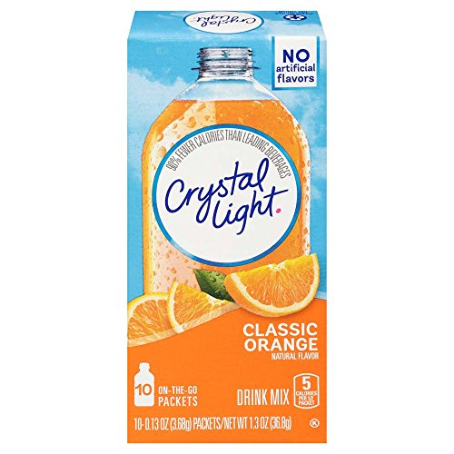 Crystal Light Classic Orange Drink Mix (60 On the Go Packets, 6 Canisters of 10)