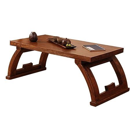 Amazon.com: Mesas viejas elm tatami café madera maciza bahía ...