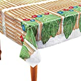 BAMBOO & PALM LEAF TABLECOVER - Party Supplies - 1 Piece