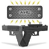 Magnet Gun Mount for Car, 42 Lbs Rubber Coated Magnetic Gun Holster, Concealed Holder for Pistol, Air Gun, Revolver, Handgun, Shotgun, Rifle in Vehicle, Truck, Desk, Wall, Home, Office (Black)