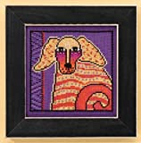 Laurel Burch Dogs! Goldie On Aida Counted Cross Stitch Kit-5x5 14 Count