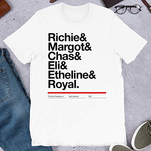 Margot Richie Tenenbaum The Royal Tenenbaums Movie Eli Cash Royal Tenenbaum Funny Gift for Men Women Girls Unisex T-Shirt Sweatshirt (White-3XL) (Margot Richie)