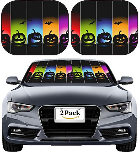 MSD Car Sun Shade Windshield Sunshade Universal Fit 2 Pack, Block Sun Glare, UV and Heat, Protect Car Interior, Image ID: 5573804 Halloween Banners for Your Design -