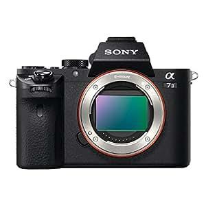 Sony Alpha ILCE-7M2 - Cámara EVIL (sensor Full Frame de 35 mm, 24.3 Mp, estabilizador de 5 ejes, procesado en 16 bits, visor OLED, vídeo Full HD, Wi-Fi y NFC, sólo cuerpo ) color negro
