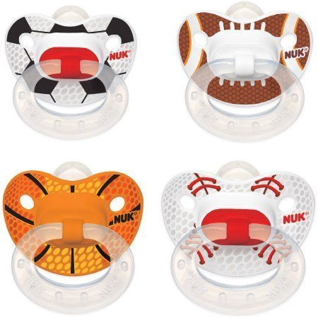 Sports Silicone Orthodontic Pacifiers, 2ct (Design May Vary) 6-18 months - Baseball Pacifier