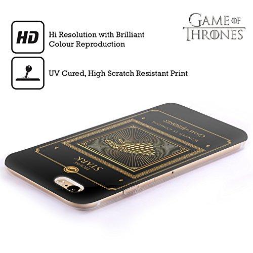 Officiel HBO Game Of Thrones Complètement Frontière Symboles D'or Étui Coque en Gel molle pour Apple iPhone 5 / 5s / SE